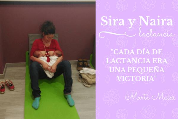 lactancia múltiple Sara y Naira