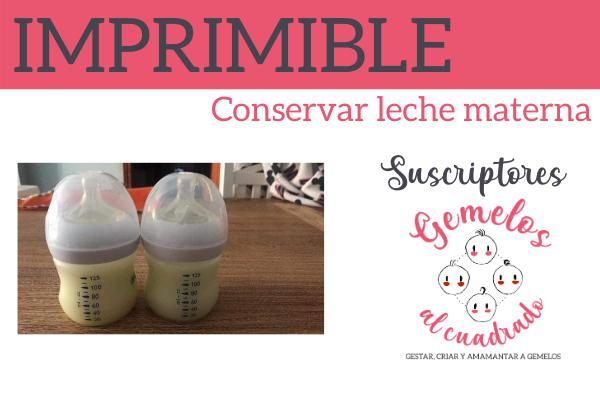 conservar leche materna