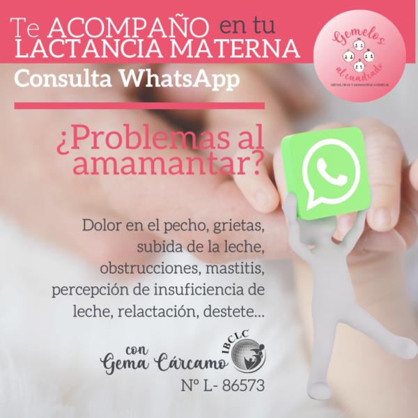 Consulta lactancia WhatsApp